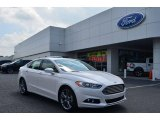 2013 White Platinum Metallic Tri-coat Ford Fusion Titanium #81253043