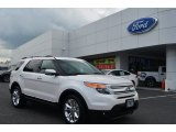 2013 White Platinum Tri-Coat Ford Explorer Limited #81253042