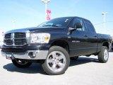 2007 Brilliant Black Crystal Pearl Dodge Ram 1500 Big Horn Edition Quad Cab 4x4 #8106939