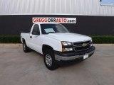 2006 Summit White Chevrolet Silverado 1500 Work Truck Regular Cab 4x4 #81288235