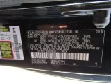 2010 Tundra Color Code for Black - Color Code: 202