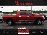 2006 Inferno Red Crystal Pearl Dodge Ram 1500 Laramie Mega Cab 4x4 #81287831