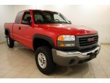 2007 Fire Red GMC Sierra 2500HD Classic SLE Extended Cab 4x4 #81288298