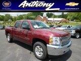2013 Deep Ruby Metallic Chevrolet Silverado 1500 LT Crew Cab 4x4 #81288507