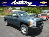 2013 Blue Granite Metallic Chevrolet Silverado 1500 Work Truck Regular Cab 4x4 #81288506