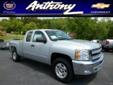 2013 Silver Ice Metallic Chevrolet Silverado 1500 LT Extended Cab 4x4 #81288503