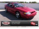 1996 Laser Red Metallic Ford Mustang SVT Cobra Coupe #81349030