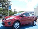 2013 Ruby Red Ford Fiesta SE Sedan #81348926