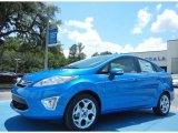 2013 Blue Candy Ford Fiesta Titanium Sedan #81348925