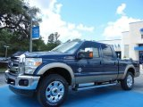 2013 Blue Jeans Metallic Ford F250 Super Duty Lariat Crew Cab 4x4 #81348923