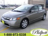2006 Galaxy Gray Metallic Honda Civic LX Sedan #8118524