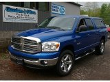 2008 Electric Blue Pearl Dodge Ram 1500 Big Horn Edition Quad Cab 4x4 #81349073