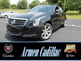 2013 Black Diamond Tricoat Cadillac ATS 2.0L Turbo Luxury AWD #81348765