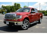 2013 Ruby Red Metallic Ford F150 Lariat SuperCrew 4x4 #81403759