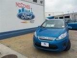 2013 Blue Candy Ford Fiesta SE Sedan #81403360