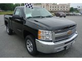 2013 Black Chevrolet Silverado 1500 Work Truck Regular Cab #81403812