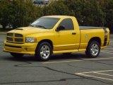 2005 Solar Yellow Dodge Ram 1500 SLT Rumble Bee Regular Cab #81403607