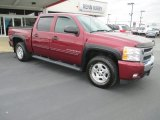 2009 Deep Ruby Red Metallic Chevrolet Silverado 1500 LT Crew Cab 4x4 #81455425