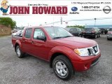 2013 Lava Red Nissan Frontier SV V6 Crew Cab 4x4 #81455520