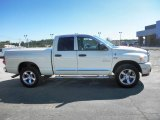 2008 Cool Vanilla White Dodge Ram 1500 Big Horn Edition Quad Cab 4x4 #81455604