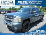 2009 Blue Granite Metallic Chevrolet Silverado 1500 LT Crew Cab 4x4 #81455536