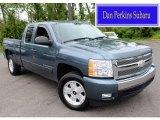 2007 Blue Granite Metallic Chevrolet Silverado 1500 LT Extended Cab 4x4 #81502284