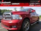 2010 Inferno Red Crystal Pearl Dodge Ram 1500 ST Crew Cab #81524710
