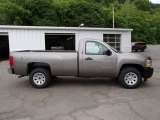 2013 Mocha Steel Metallic Chevrolet Silverado 1500 Work Truck Regular Cab 4x4 #81524674