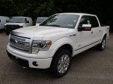 White Platinum Metallic Tri-Coat Ford F150 in 2013