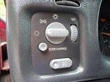 2002 Chevrolet S10 LS Crew Cab 4x4 Controls