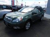 2012 Cypress Green Pearl Subaru Outback 2.5i Premium #81540104