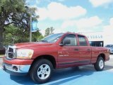 2006 Inferno Red Crystal Pearl Dodge Ram 1500 SLT Quad Cab #81540156