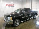 2013 Black Chevrolet Silverado 1500 LT Extended Cab 4x4 #81540634