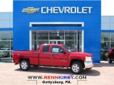 2013 Victory Red Chevrolet Silverado 1500 LT Extended Cab 4x4 #81583805