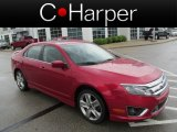 2010 Red Candy Metallic Ford Fusion Sport #81583459