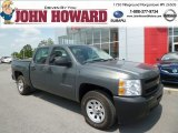 2011 Steel Green Metallic Chevrolet Silverado 1500 Crew Cab 4x4 #81583949