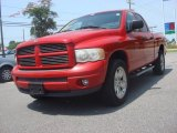 2002 Flame Red Dodge Ram 1500 Sport Quad Cab 4x4 #81584164