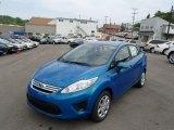 2013 Blue Candy Ford Fiesta SE Sedan #81584067