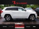 2014 Bright White Jeep Grand Cherokee Overland 4x4 #81583544