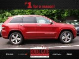 2014 Deep Cherry Red Crystal Pearl Jeep Grand Cherokee Overland 4x4 #81583543