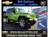 2012 Gecko Green Jeep Wrangler Sahara 4x4 #81584061