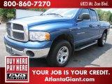 2002 Atlantic Blue Pearl Dodge Ram 1500 SLT Quad Cab 4x4 #81584024