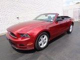 2014 Ruby Red Ford Mustang V6 Convertible #81634232