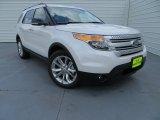 2013 White Platinum Tri-Coat Ford Explorer XLT #81634411