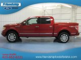 2010 Vermillion Red Ford F150 Platinum SuperCrew 4x4 #81634215