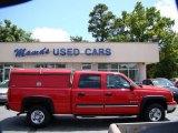 2007 Victory Red Chevrolet Silverado 1500 Classic LT Crew Cab #81634510