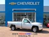 2013 Silver Ice Metallic Chevrolet Silverado 1500 Work Truck Regular Cab #81634598