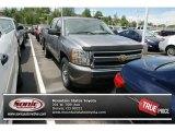 2008 Graystone Metallic Chevrolet Silverado 1500 LS Crew Cab 4x4 #81634078