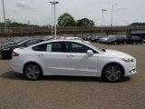 2013 Oxford White Ford Fusion Hybrid SE #81634256
