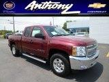 2013 Deep Ruby Metallic Chevrolet Silverado 1500 LT Extended Cab 4x4 #81634749